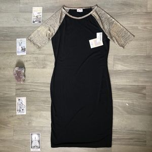 "LuLaRoe | Black & Metallic ""Julia"" Dress 